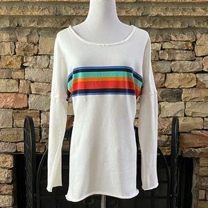 Crown & Ivy Striped Sweatshirt